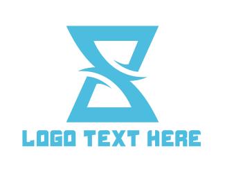 Hourglass - Letter S Hourglass logo design