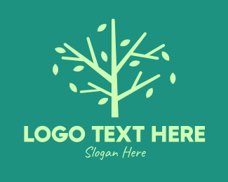 Twigs - Green Environmental Tree logo design