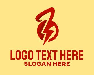 Kettlebell - Lightning Kettlebell logo design
