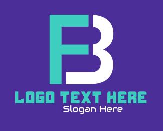 Facebook - Futuristic Monogram F & B logo design