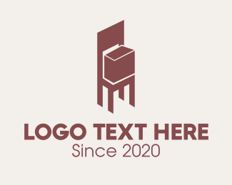 Logistic Service - Brown Chair Box logo design