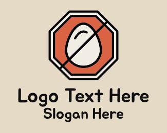 Road Sign - Egg Stop Sign logo design