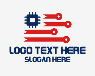 Chip - American Digital Tech logo design
