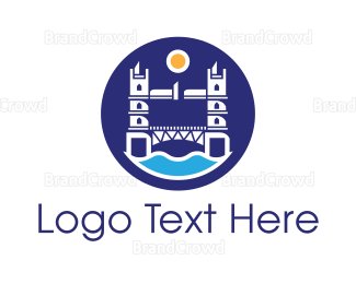 England - London Bridge Badge logo design