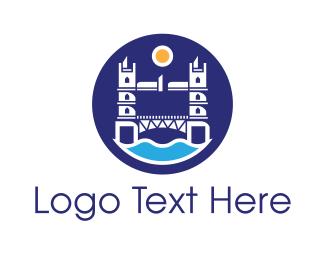 Badge - London Bridge Badge logo design