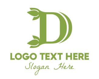 Aromatherapy - Green D Leaf logo design