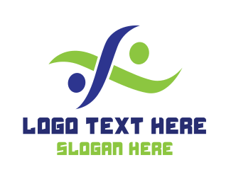 High Tech - Abstract Tech Teamwork logo design