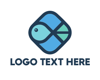 Blue Fish - Aquatic Fish logo design