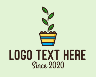 Colorful Plant Pot  Logo