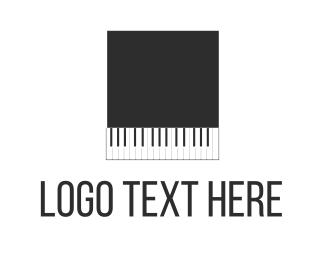 Orchestra - Black Piano Square logo design