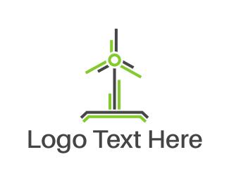 Renewable Energy - Wind Power logo design