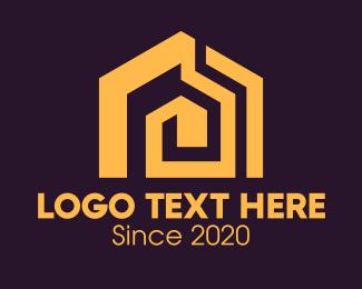 Real Estate - Golden Real Estate Home logo design