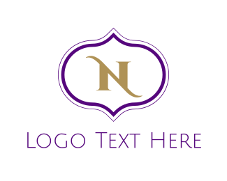 Middle East - Arab Letter N logo design