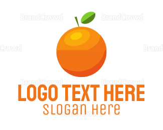 Green And Orange - Orange Fruit logo design