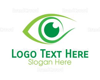Eye Care - Green Eye Ball logo design