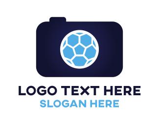 Soccer - Blue Soccer Camera logo design
