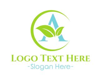 Air Freshener - Atarva Leaf - letter A logo design
