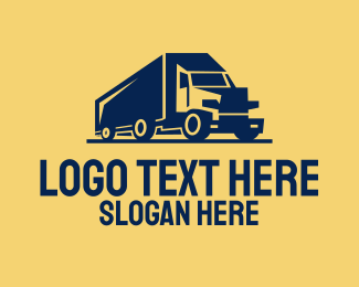 Heavy - Heavy Cargo Truck logo design