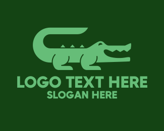 Crocodile - Green Crocodile logo design