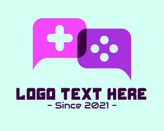 Game Store - Console Gaming Chat logo design