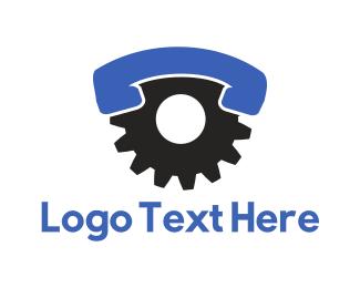 Cogwheel - Industrial Call logo design
