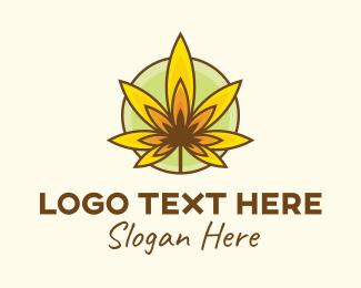 Autumn - Marijuana Flame logo design