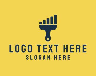 Creative Agency - Paint Signal  logo design