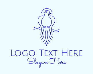 Cockatoo - Minimalist Elegant Bird  logo design