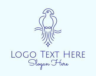 Macaw - Minimalist Elegant Bird logo design