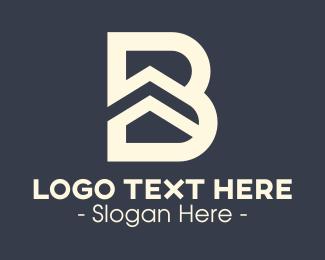 Roof - Letter B Building Roof logo design