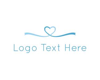 Ribbon - Ribbon Heart  logo design