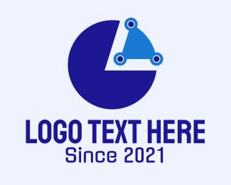Stock - Digital Pie Chart logo design