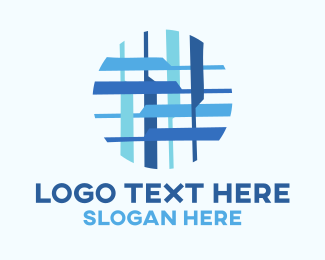 Cloth - Blue Textile Pattern logo design