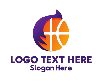 Play Off - Basketball Hair Style logo design