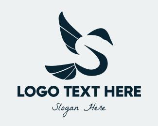 Letter S - Bird Letter S logo design