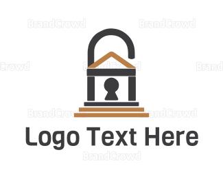 Gate - Padlock House  logo design