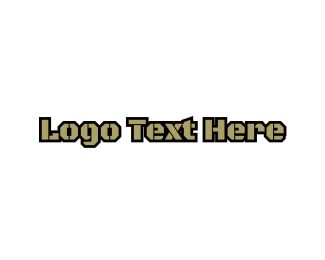 Gun - Army Wordmark logo design