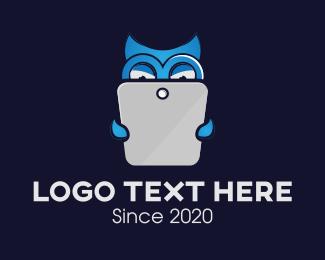 Online Learning - Tech Owl Read Learn logo design
