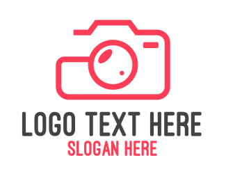 Electronic Device - Camera Photography Outline logo design
