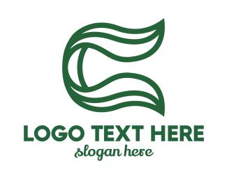 Dietician - Green Leaf C Outline logo design