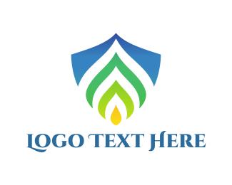 Candle - Eco Shield logo design