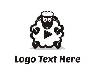 Dj - Sheep Media logo design