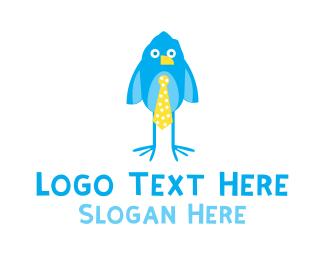 Birdie - Cute Blue Birdie logo design