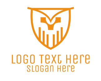 Bars - Owl Shield logo design