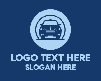 Sedan - Blue Sedan Car logo design