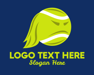 Angry - Angry Tennis Ball  logo design