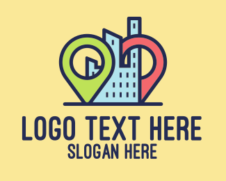 Guide - Condo Locator Map logo design