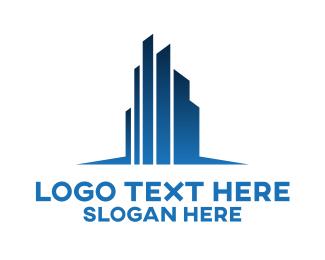 Commercial Real Estate - Real Estate City Buildings logo design