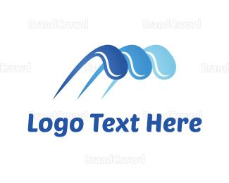 Flow - Water Splash logo design