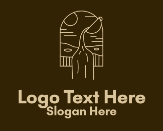 Ground - Minimalist Poured Coffee  logo design